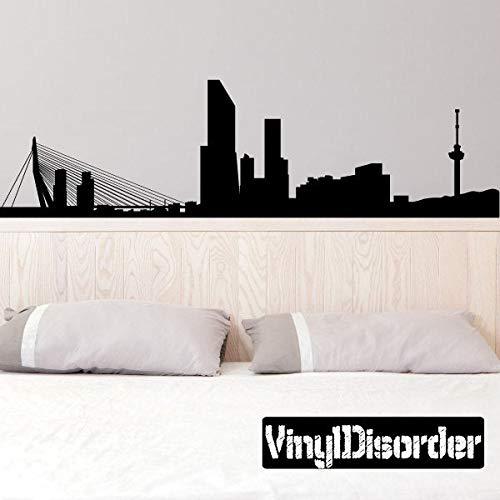 Rotterdam Nederland Skyline Vinyl Muursticker of Auto Sticker SS119ET Eenvoudig aan te brengen en verwijderbaar