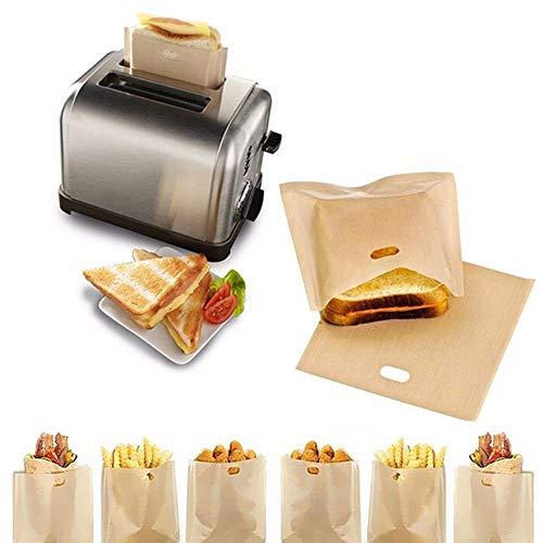 ASVNDD 2pcs Tostadora los Bolsos for los sándwiches de Queso Fácil Reutilizable Antiadherente al Horno Pan Tostado Bolsas (Color : 1)