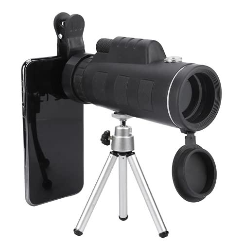 FTVOGUE- Telescopio Monocular para Movil, Telescopio Terrestre con Trípode y Brújula Clip de Teléfono