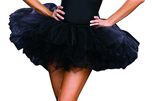 Dreamgirl Tutu Petticoat Dress, Black, One Size
