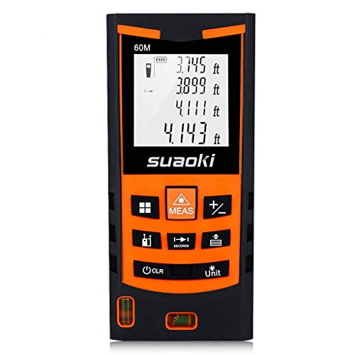 SUAOKI S9 198ft Portable Laser Distance Measure, Laser Measure with 2...