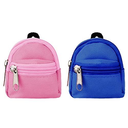 COOFIT Doll Backpack for Doll Bags 2PCS Zipper Backpack Mini Doll Bag for Doll Backpack Doll Accessories