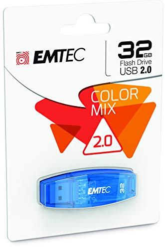 Emtec Color Mix - Memoria USB 2.0 de 32 GB, Azul