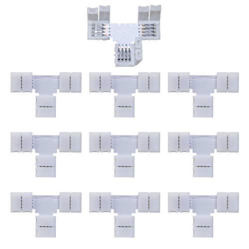 Conector rápido de 4 pines para tiras LED 5050 RGB, 10...