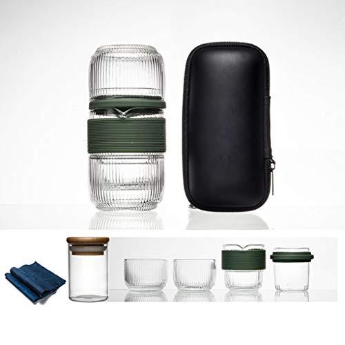 Diaod Botella de Agua Bolsa de Viaje Juego de té Chino Gaiwan Tetera té Tazas de té Feria de Vidrio Juegos de té