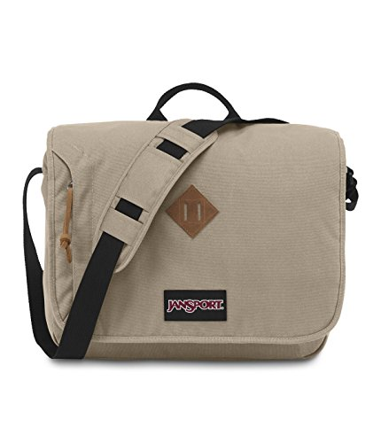 "JanSport Crosstalk 15"" Laptop Messenger Bag Desert Beige TZW19RU"