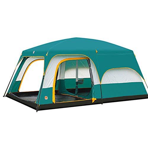 Familienzelt Für 5-8 Personen Wasserdicht, Gut Belüftet, Atmungsaktiv, Zweischichtig, Gepolt, Sofortkabinen-Campingzelt, Zwei Zimmer> 3000 Mm
