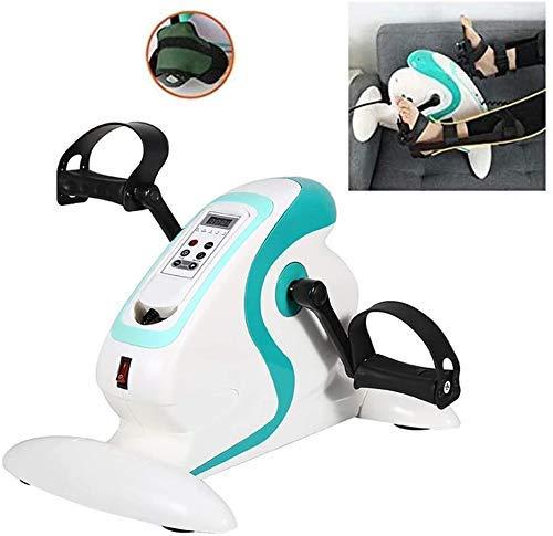 Bonheur Mini Übenden/motorisierte elektrisches Pedal for Fitness mit Übenden, mit LCD-Anzeige Elektro-Übenden for Pedale for ältere Menschen tragbarer Arm/Beintrainer
