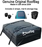 RoofBag Rooftop Cargo Carrier Bag | Made in USA | 15 cu ft |Standard Waterproof Luggage Car Top Carrier | 1 Yr Warranty | Fits ALL Cars: With Side Rails, Cross Bars or No Rack