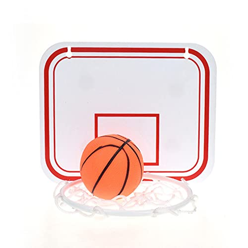 AHIN Canasta Baloncesto Pared, Plegable Niños Aro Baloncesto, Material PS + PP, Instalación De Ventosa, Montaje Fácil,Blanco