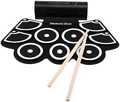 Schlagzeug Trommel handgerollte Trommeln Kinder Spielzeug tragbare Silikontrommel Anf er Mini elektronische Trommel vorhanden E-Drums (Farbe   Chargable)