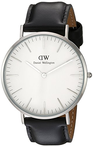 Daniel Wellington Herren-Armbanduhr XL Sheffield Analog Quarz Leder DW00100020