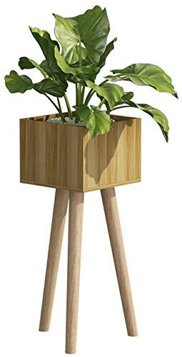 YISUNF Flower Stand Solid Wood Plant Stand Indoor Floor Flower Pot Holder Decoration Square Green Plant and Flower Frame Beige Plant Stand (Size : 25x20x60cm)