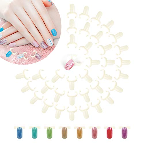 Anillo de exhibición de uñas 200 piezas, anillo de muestras de uñas de color natural, herramienta de tabla de colores para arte de uñas, anillo de exhibición de esmalte de uñas para tienda de manicura