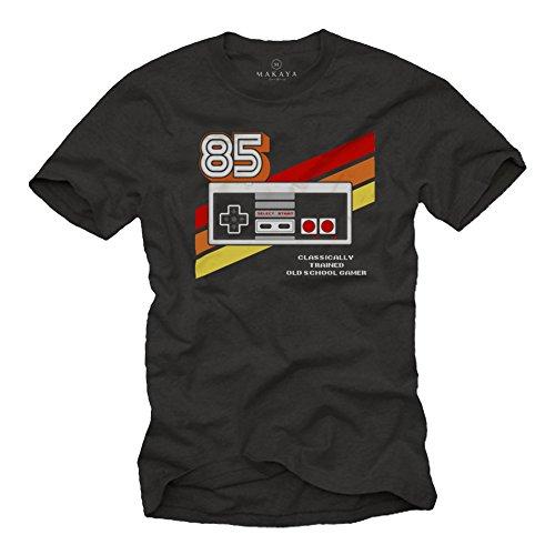 Gamer T-Shirt Hombre - Vintage Game Controller - Camiseta Friki Regalos Gaming...