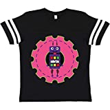 inktastic Robot Youth T-Shirt Youth Large (14-16) Football Black and White 34ffc
