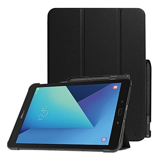 FINTIE Custodia per Samsung Galaxy Tab S3 9.7 - Ultra Sottile Leggero Tri-Fold Case con Auto Svegliati/Sonno Protettivo S Pen Holder per Samsung Galaxy Tab S3 9.7 SM-T825 / T820, Nero