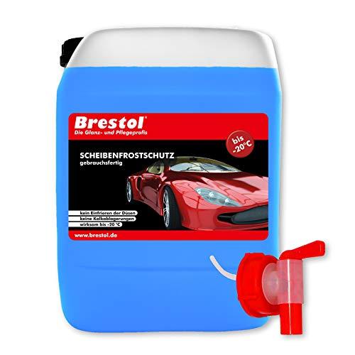 Bidon de liquide lave-glace et dégivrant - 25 litres - Prêt à l'emploi -20 ° CRobinet de vidange 61 mm inclus - Liquide lave-glace et dégivrant - Brestol