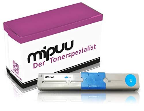 Mipuu Cartucho de tóner compatible con OKI 46508711 (Cyan) para C332 C332dn C332dnw MC 363 MC363 MC363dn MC363dnw Impresora láser