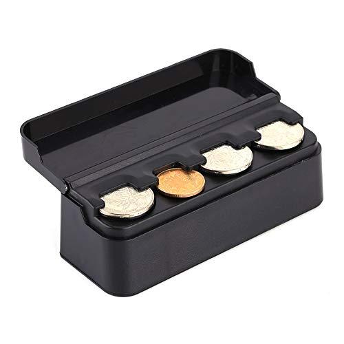 Monedero de coche Organizador-Coche Portamonedas de plástico portátil Caja de almacenamiento Caja de almacenamiento Contenedor de monedas Organizador Bolsa de almacenamiento