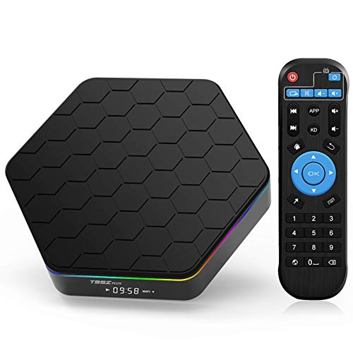 TV Box Android 9.0, TUREWELL T95Z Plus 4GB RAM 64GB ROM Android TV Box Amlogic S905X3 Quad-Core 64Bits Dual WiFi 2.4G/5GHz Bluetooth 4.0 3D 8K Ultra HD H.265 USB 3.0 Smart Media Player