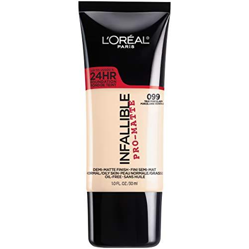 L'Oreal Paris Makeup Infallible Pro-Matte Liquid Longwear Foundation, True Porcelain 099, 1 fl. oz.