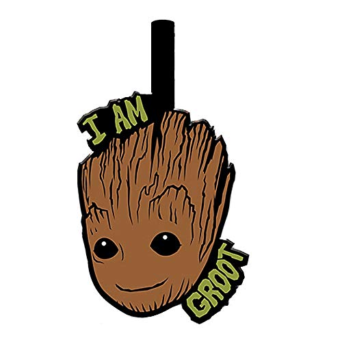 Genuine Marvel Guardians of The Galaxy I Am Groot PVC Rubber Luggage Tag Travel