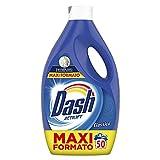 Dash Detersivo Lavatrice Liquido, 50 Lavaggi, Classico, Maxi Formato, Rimuove le Macchie, Brillantezza per Tutti i Capi