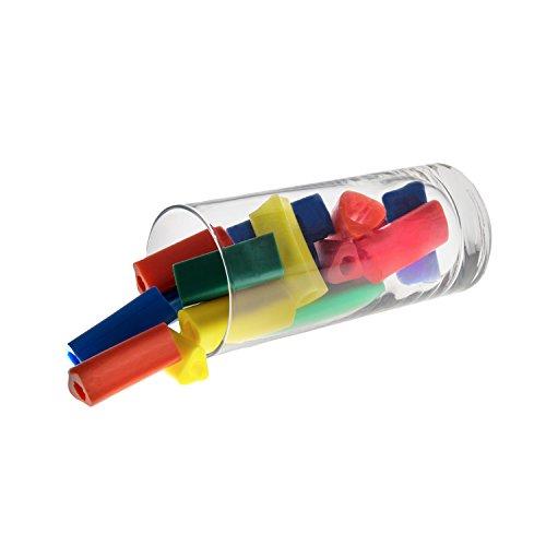18 STÜCK   SPAR SET   Dreieckige Schreibhilfen für Stifte   Griffverdickung   Ergonomische Stiftehalter   GEO   Silikon   Für Kinder und Erwachsene   Set mit verschiedenen Größen und Farben