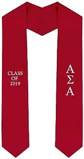 Custom Alpha Sigma Alpha ASA Embroidered Graduation Sash Stole