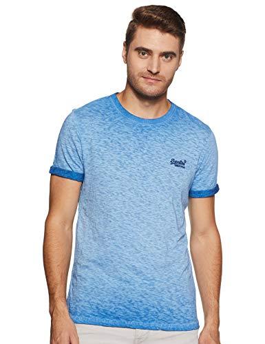 Superdry Herren Low Roller Tee T-Shirt, Blau (Harrington Navy Px2), XX-Large (Herstellergröße: 2XL)