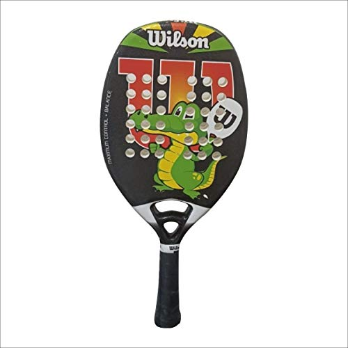 Raquete de Beach Tennis Wilson Jr Crocs - Preto/Branco