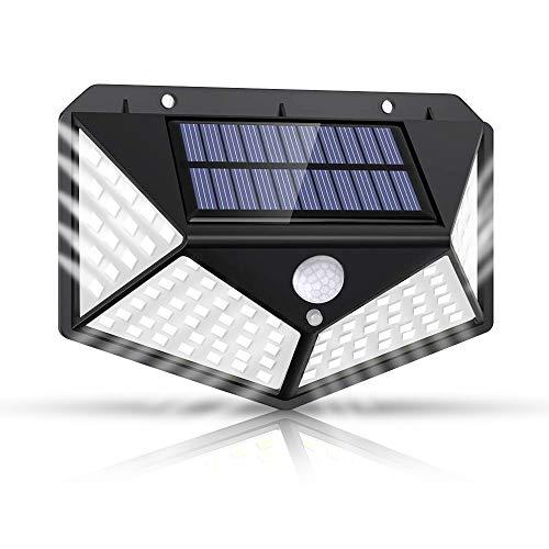 センサーライト 屋外 ソーラーライト 3つ点灯モード 人感センサーライト 4面発光 300°広い照射範囲防犯ライト IP65防水 壁掛け式屋外照明庭灯