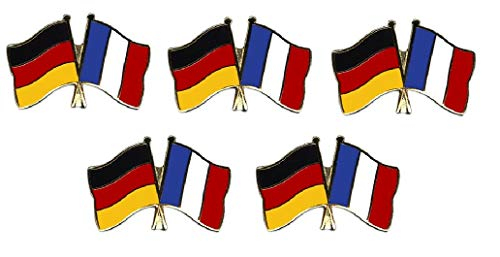Yantec Pins 5er Pack Deutschland - Frankreich Freundschaftspin Flagge