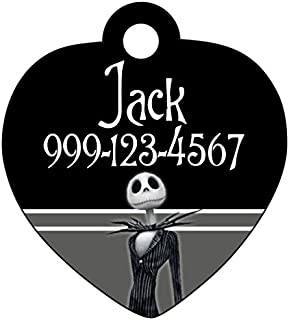 Disney Nightmare Before Christmas Jack Skellington Custom Pet Id Tag for Dogs & Cats Personalized w/Name & Number