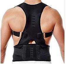 Fully Adjustable Magnetic Orthopedic Back Brace Posture Corrector For Men Women w Lumbar Support Belt -Shoulder, Neck, Upper Lower Back Pain Relief- Best Straightener Trainer Improves Upright Stance L