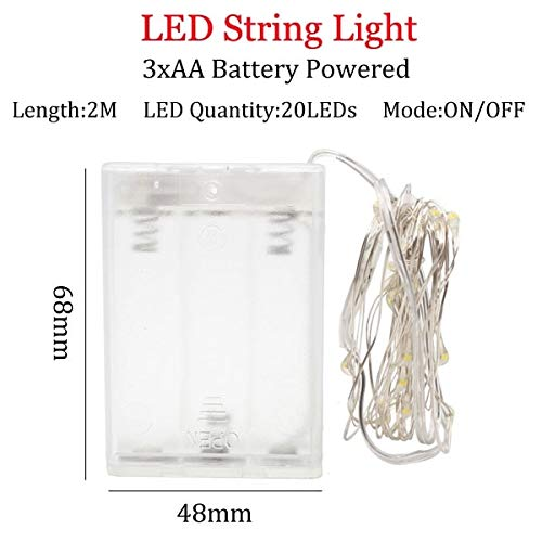 2/5/10M 10-100 LED Christmas Garland Wire LED String Lamp Fairy Lights For Indoor New Year Xmas Wedding Decoration - 2m3ABattery,Yellow