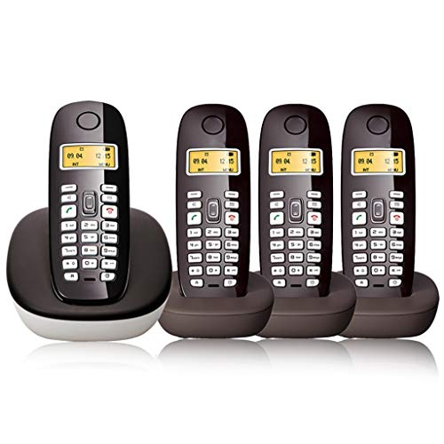 Qi Tai teléfono fijo Teléfono inalámbrico digital, teléfono pequeño, teléfono fijo en el hogar, walkie-talkie manos libres con retroiluminación de la pantalla de la línea de la oficina uno para tres d