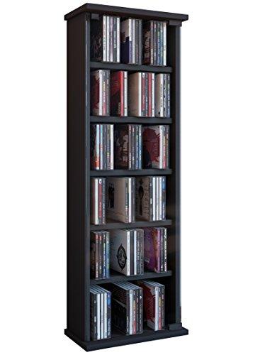 VCM Vetro-Torre para CD/DVD, para 150 CDs, Color Negro,...
