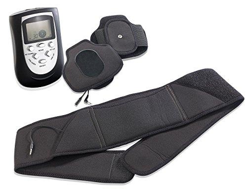 newgen medicals Bauchmassagegerät: 3in1-Massagegürtel-Set für Entspannung und Muskelaufbau (EMS Gürtel)