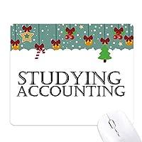 短いフレーズの会計を勉強している ゲーム用スライドゴムのマウスパッドクリスマス