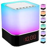 Luces nocturnas Altavoz Bluetooth, StillCool Lámpara de Noche Que Cambia de Color, Reloj ...