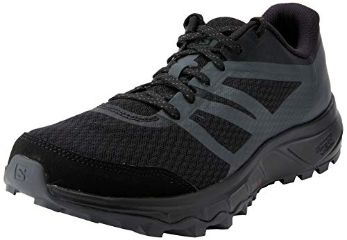 Salomon Trailster 2, Zapatillas de Trail Running Hombre, Negro (Black/Black/Magnet), 43 1/3 EU