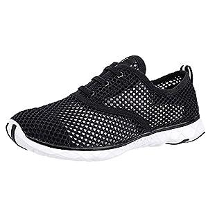ALEADER Women's Quick Drying Aqua Water Shoes Black 8 D(M) US