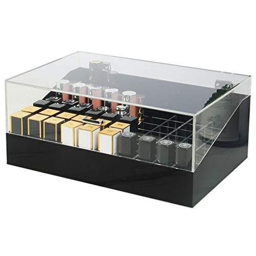 Make-up Caddy Regal Kosmetik Organizer Box waschbar Acryl klar kosmetische Aufbewahrungsbox Lippenstift Halter abtrennbare Deckel Lagerplätze for Bad Schubladen Waschtische Arbeitsplatten