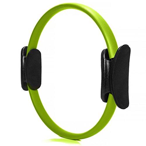 Aro de pilates »Loop« para realizar eficazmente ejercicios de pilates y para fortalecer la musculatura del tronco, los brazos y las piernas / verde