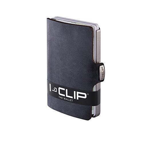 I-CLIP Original Silver Soft Touch Black, Geldbörse, Kartenetui, Wallet