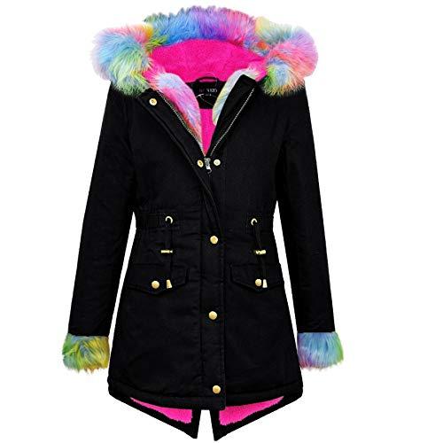 A2Z 4 Kids® Kids Girls Designer's Camouflage Hooded Faux Fur Parka School Jassen Outwear Jassen Nieuwe leeftijd 2 3 4 5 6 7 8 9 10 11 12 13 Jaar
