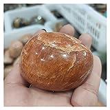 YSJJJBR Piedra de decoración de pecera 1 unids Natural Naranja Luna Piedra Piedras de Palma minerales Acuario Cristal Piedras Naturales y minerales