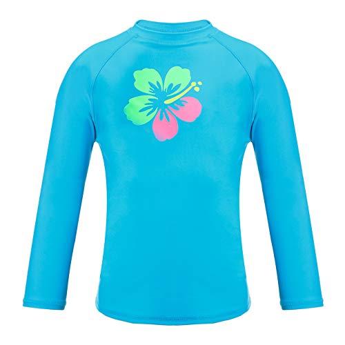 DAYU Girls' Fashion Rashguard Swimwear with UPF 50+ Sun Protection Blue
